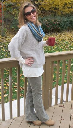 Kimono sweater from J. Jill via @Whitney Wingerd - Mommies with Style