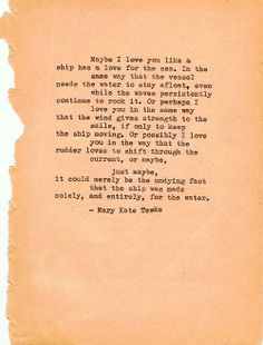 Typewriter poem #8 | Mary Kate Teske