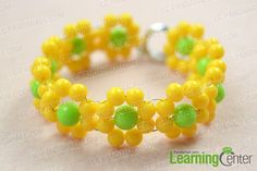 connect flower bracelet pattern