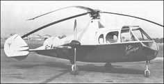 First flight of the Fairey FB-1 Gyrodyne experimental rotorcraft 4/12 1947.