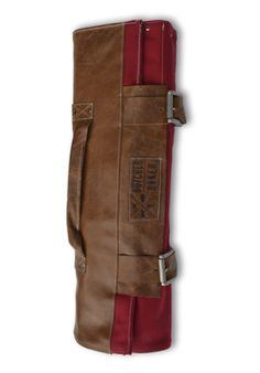 RED CANVAS AND LEATHER KNIFE ROLL – Butcher and Baker - Just ordered one of these BAD Boys and can't WAIT to get it! :)