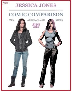 "1,320 Likes, 10 Comments - • Accurate.MCU • mcu fanpage (@accurate.mcu) on Instagram: ""• JESSICA JONES - COMIC COMPARISON • So after i already did all the other Defenders, I thought it…"""