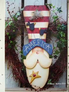 Wood Uncle Sam Pattern | Pattern Packet America Uncle Sam by AppleBerryCreations on Etsy