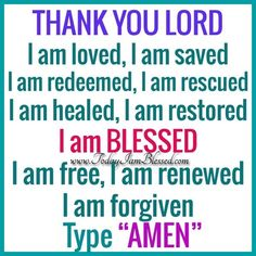 Amen ! Thank you Lord !