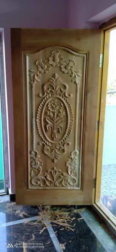 My work Simple House Exterior Design, New Door Design, Single Door Design, Front Door Design Wood, Pooja Room Door Design, Wood Front Doors, Wooden Door Design, House Front Design, Wooden Doors