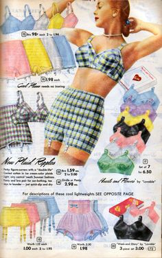Aldens Bras Panties and Lingerie Lingerie Vintage, Vintage Underwear, Vintage Dior, Mode Vintage, Vintage Beauty, Vintage Girdle, Lingerie Underwear, 1950s Fashion, Vintage Fashion