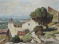 Coin de village provençal by Gustave Vidal