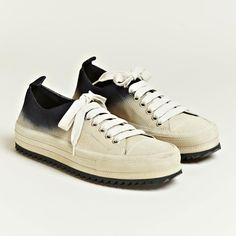 Ann Demeulemeester scamosciato contrast colour trainers » Fucking Young!