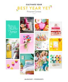 Cultivate your best year yet with #PowerSheets with a 2018 vision board and enter to win a seat at the Making Things Happen intensive!