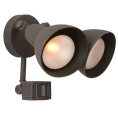 Off Rust Two Light Outdoor Flood Light with Motion Sensor by Craftmade. Rust Two Light Outdoor Flood Light with Motion Sensor Outdoor Flood Lights, Outdoor Light Fixtures, Outdoor Wall Lighting, Outdoor Walls, Lighting Ideas, Exterior Lighting, Lighting Concepts, Mini Chandelier, Light Sensor