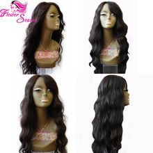 Side Part Virgin Peruvian Lace Front Wig 100% Unprocessed Glueless Lace Front Human Hair Wigs Bleached Knots For Black Women(China (Mainland))
