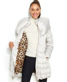Laundry by Shelli Segal Belted Down Puffer Coat | macys.com