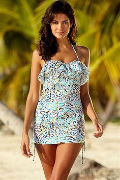 Bora Bora Cinch Tankini Top >> Super cute!