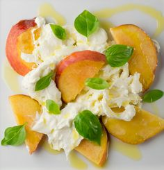 Peach Burrata Caprese! - Framed Cooks