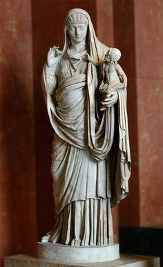 Valeria Messalina with her son Britannicus Marble. Ca. 45 CE. Inv. No. Ma 1224. Paris, Louvre Museum