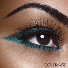¿Piel morena? Un tono verde agua en tus ojos se verá deslumbrante. #CoverTips