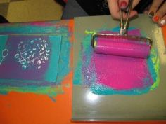Printmaking with Elementary