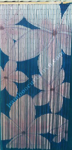 High Quality Bamboo Door Curtain White Flower On Blue, Producer And  Exporter Of Landscape Bamboo