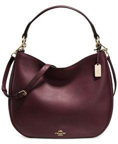 7c7cdcd6a5b4 Glovetanned Oxblood Leather Hobo Ladies Handbag 36026LIOXB