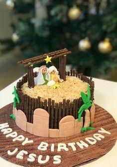 Christmas Goodies, Christmas Time, Advent Scripture, Happy Birthday Jesus, Cake Creations, Amazing Cakes, Nativity, Birthday Cake, Challenges