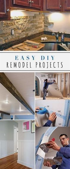 Step by step tutorials for easy DIY remodeling ideas & projects that you can do to make your home something special! From From DIY kitchen makeovers to small bathroom remodel ideas and everything in…MoreMore #RemodelingIdeas #homeremodeling #bathroomremodelsmall #easybathroomremodel
