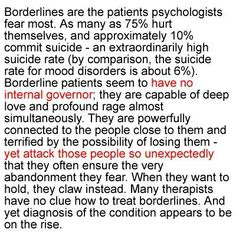 Discover and share Borderline Personality Disorder Quotes. Explore our collection of motivational and famous quotes by authors you know and love. Boarderline Personality Disorder, Borderline Personality Disorder Quotes, Avoidant Personality, Personality Quotes, Mental Illness Awareness, Mental Health Illnesses, Mental Disorders, Bipolar Disorder, Social Anxiety
