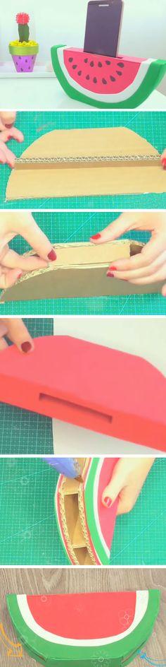 Watermelon Sound Amplifier   Easy DIYS to do When your Bored