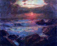 Seascape Evening, Albert Julius Olsson.
