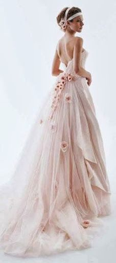 Rose dress. A little much but I love the color and the roses right by the waist. Great idea but overdone, needs more class