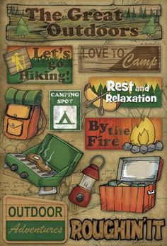 Karen Foster Camping The Great Outdoors Cardstock Stickers