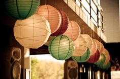 Wedding Concepts | Something Different | Colourful chinese lanterns