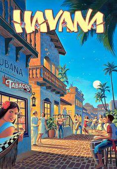 ★ Come to Havana, Cuba - vintage poster. I ♥ Havana http://Netssa.com/havana.html..