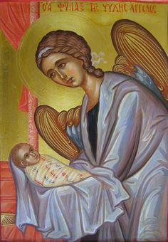 A beautiful Orthodox icon of our Guardian Angel <3