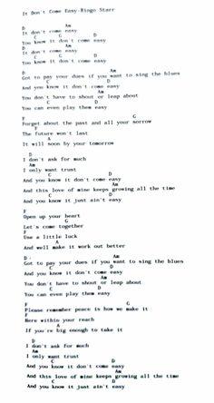 Piano Songs, Guitar Songs, Guitar Chords, Ukulele, Beatles Songs, The Beatles, Ringo Starr, Teaching Music, Me Me Me Song