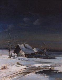 Winter Landscape, 1871, by Russian realism painter Aleksey Savrasov