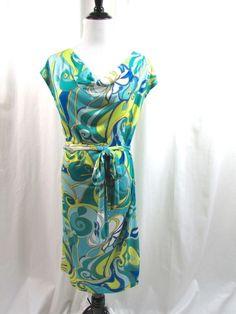 Banana Republic Trina Turk Draped Silk Blend Belted Dress Medium M Excellent #TrinaTurk #WeartoWork