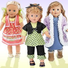 Doll Boutique - 5 part series with great tips for sewing doll clothes from Simplicity Creative Group.