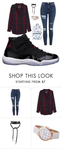 """How to wear Jordan's"" by dua-alqushi on Polyvore featuring Freaker, Topshop, Rails and Disney"