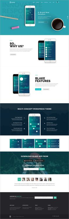 Blake is an amazing #PSD theme suitable for #webdesign multipurpose #app landing page website with 11+ unique homepage layouts and 68 organized PSD pages download now➩ https://themeforest.net/item/blake-multiconcept-psd-template/18941048?ref=Datasata