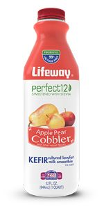 You can have your cake and drink it too with Lifeway Perfect 12 Kefir. Made with no-calorie stevia leaf extract and with no added sugar, each sip is an all-natural, tart and tangy delight.