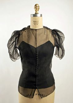 Saks Fifth Avenue silk cocktail blouse 1939