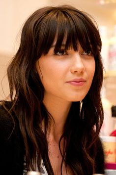 Blunt Bangs wavy | Daisy Lowe signs limited edition Kiehl's Creme de Corps at Selfridges ...