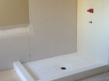 Photos of Custom Shower Pans, Benches, Shelves, Corner Moldings and Ceilings