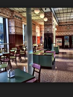 Wes Anderson Cafe bar Luce Milan