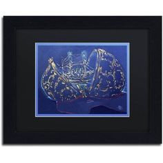 Trademark Fine Art Azova Egg Canvas Art by Lowell S.V. Devin, Black Matte, Black Frame, Size: 16 x 20