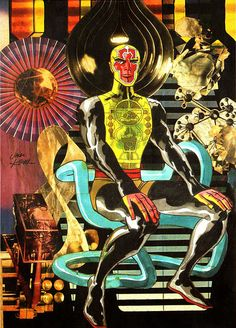 Comic collages by Jack Kirby Comic Book Artists, Comic Artist, Comic Books Art, Art Science Fiction, Collages, Thor, Superman, Batman, Jack Kirby Art