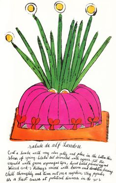 These charming illustrations populate a 1959 cookbook - imagine my surprise when it was... Wild Raspberries: Young Andy Warhol's Little-Known Vintage Cookbook | Brain Pickings