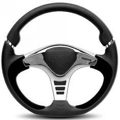 Momo Gtr 2 Steering Wheel - Black & Silver 350mm