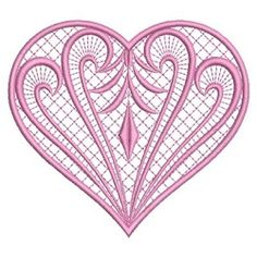 Fancy Hearts 8 - 3 Sizes! | What's New | Machine Embroidery Designs | SWAKembroidery.com Ace Points Embroidery
