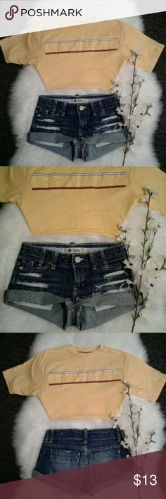 Selling this Classic Gap Low Rise sz 0 Distressed Jean Shorts on Poshmark! My username is: genstyle. #shopmycloset #poshmark #fashion #shopping #style #forsale #GAP #Pants
